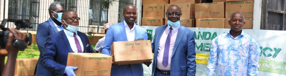 UTDAL through its managed factories of Igara and Kayonza donated 100 cartons of Tea bags to the National  COVID-19 Response Team on 1st May 2020 in Kampala.